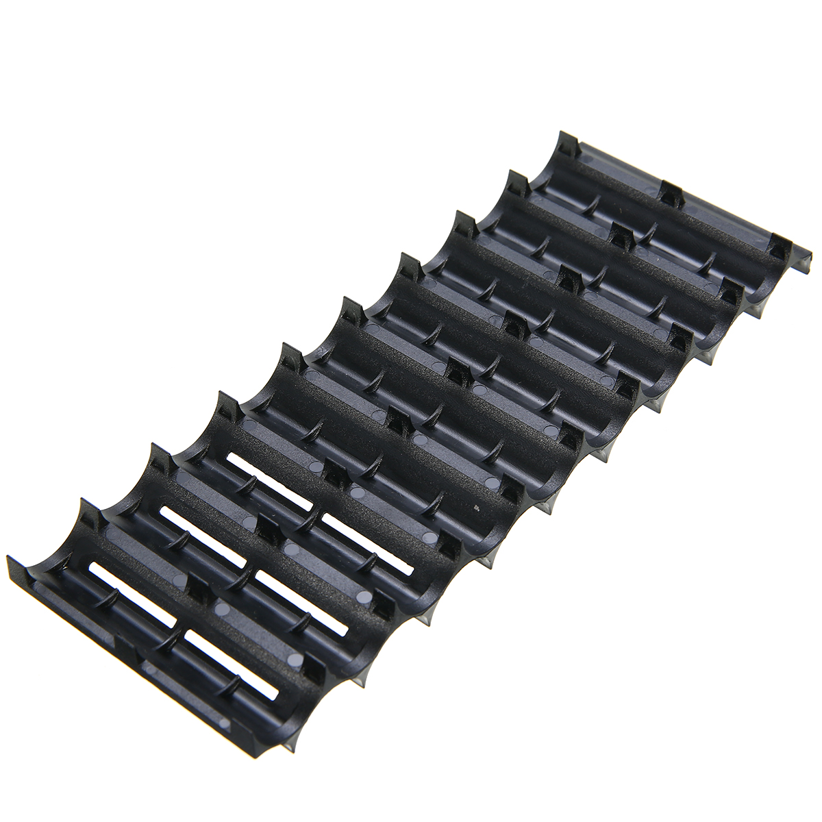 2pcs 10x Cell Plastic <font><b>18650</b></font> <font><b>Battery</b></font> Spacer <font><b>Holder</b></font> Black High Quality Battries <font><b>Cylindrical</b></font> Cell <font><b>Bracket</b></font> For <font><b>Battery</b></font> Mayitr image