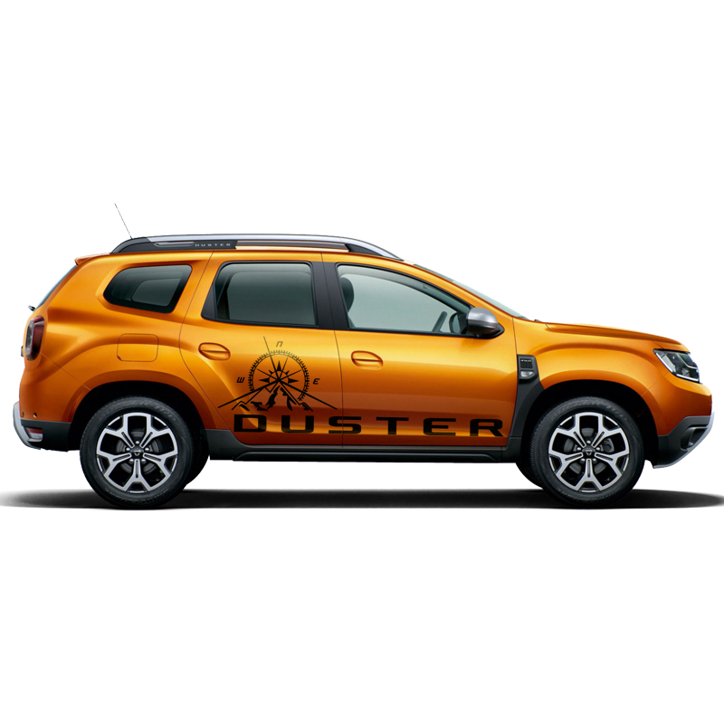 car stickers 2PC side door mountains compass graphic Vinyl car accessories decals custom for dacia renault duster 2017-2019car stickers 2PC side door mountains compass graphic Vinyl car accessories decals custom for dacia renault duster 2017-2019