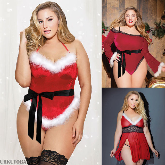 Women Ladies Xmas Sexy Costumes Underwear Christmas 3 Patterns Available Sexy Lingerie Plus Size Lingerie Sexy Erotic Babydoll