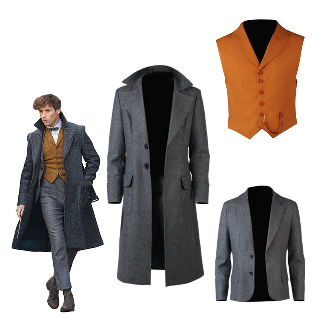 Fantastic Beasts Cosplay and Where to Find Them Costume Newt Scamander Bulma Carnival Adult Halloween Fantastic Animal Only Coat