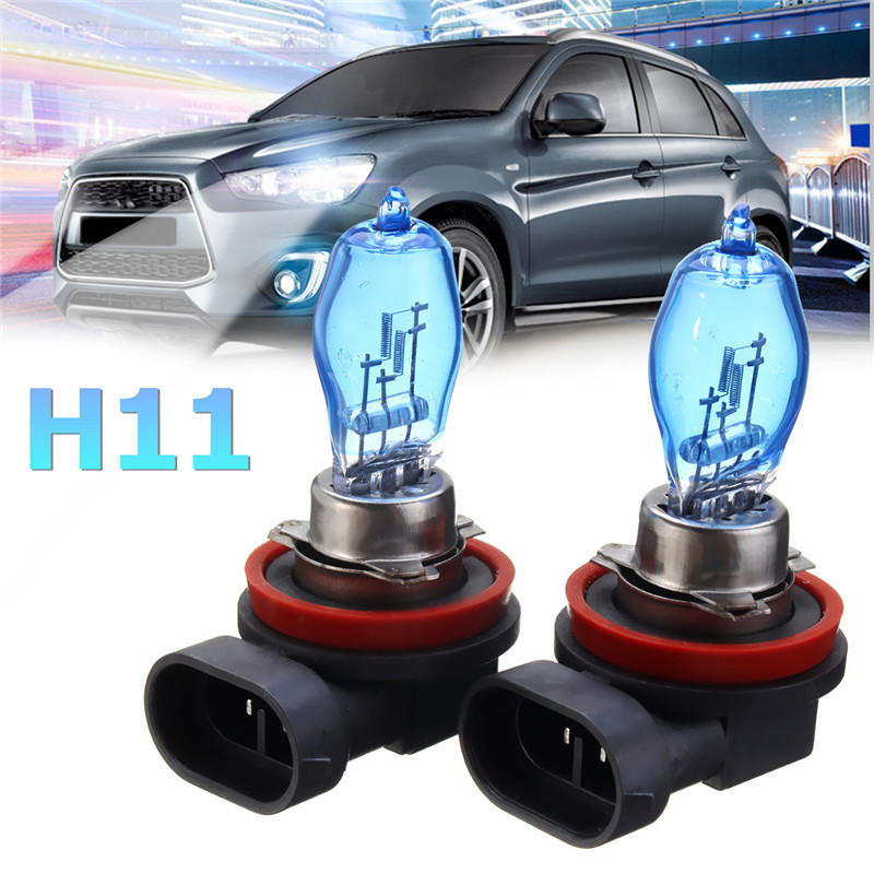 2/4Pcs H11 Car HOD Halogen Headlights Bulbs Fog Lamps 12V 100W 8500K White
