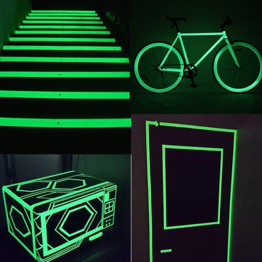 25MM*10M Luminous Tape Self-adhesive Warning Tape Night Vision Glow In Dark Safety Security Home Decoration Luminous Tapes