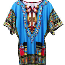 dd2c6681a6 African Women Kaftan Dashiki Boho Hippie Short Dress Maxi Gown Plus Size (China)