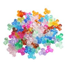 1000pcs Loose Beads Colorful Plastic Jewelery Making Beads DIY Bead Sets DIY Beads Accessories for Children Kids(China)