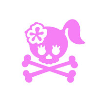 Car Sticker: Skull Ladies Vinyl Car Packaging Label Accessories Decorative Decal Campaign(China)