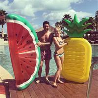 Inflatable Swimming Ring Giant Pool Adult Pool Mattress Toys Swimming Watermelon Floating Life Buoy Swimming Water Pool Toy