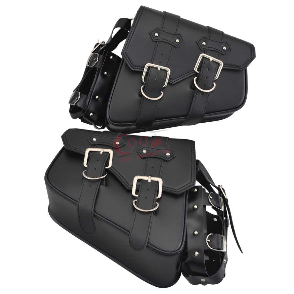 Universal Motorcycle Solo Bag Saddle Bags Tool Storage Drink Holder For Harley Sportster XL 1200 883 Softails Chopper 2004-Up