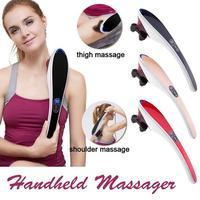 Electric Massage Stick Back Waist Hand Foot Body Massager Hammer Neck Massage Infrared Shiatsu Massage Health Device