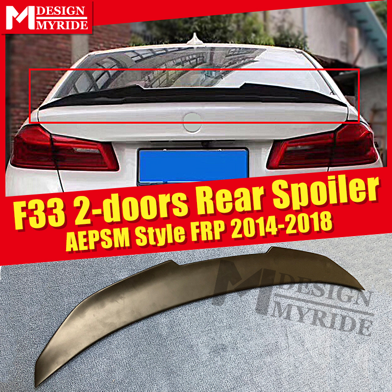 F33 2-doors Rear Spoiler AEPSM style FRP Primer black For BMW 4 Series 420i 430i 435I rear trunk wing Lip 2014-2018