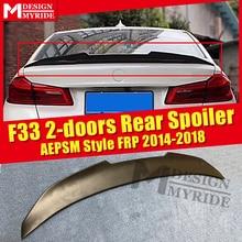 цена на F33 2-doors Rear Spoiler AEPSM style FRP Primer black For BMW 4 Series F33 420i 430i 435I rear trunk Spoiler wing Lip 2014-2018