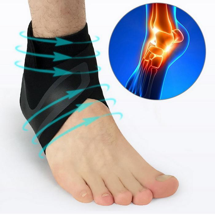 1pcs ankle support sleeve Pressurized anti-twist protection ankle sleeve Outdoor basketball football climbing gear