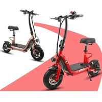 Mini Folding Electric Bicycle 2 Wheels Electric Bicycle 22 Inch 48V Foldable Smart Electric Scooter For Women Adults