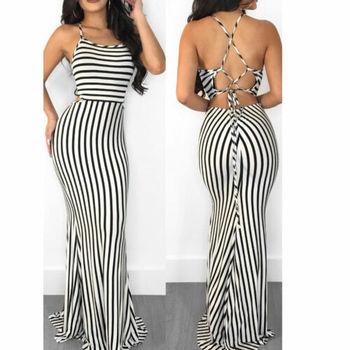 Nautical Stripe Maxi Dress 2