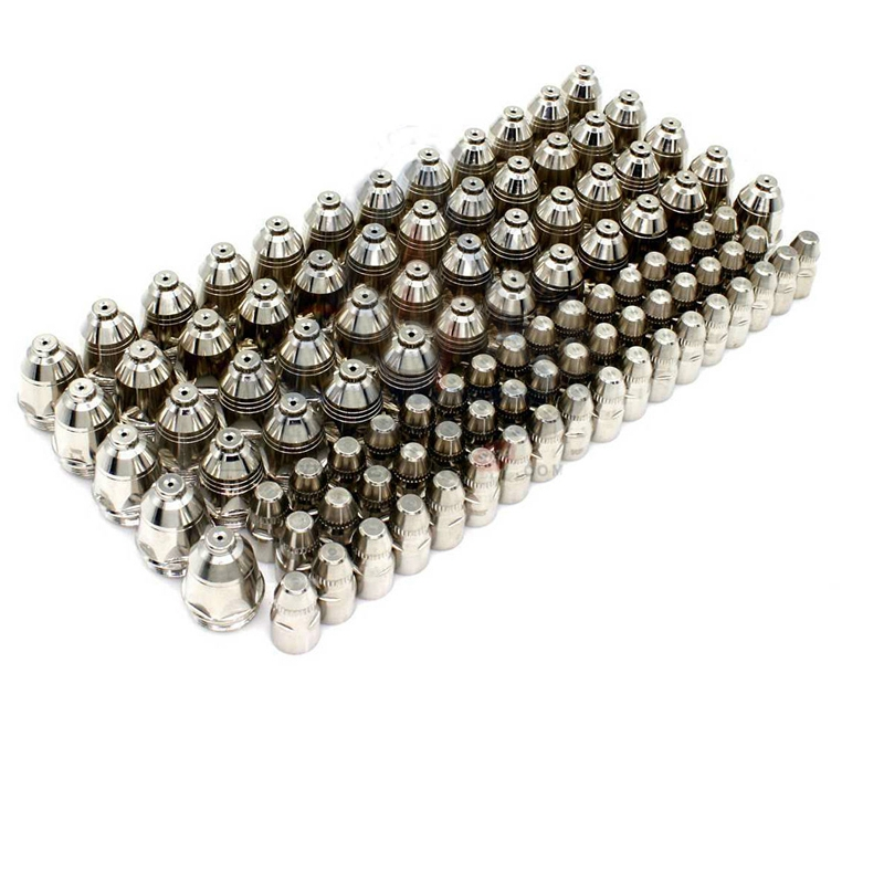 100pcs/set P80 Inverte Plasma Cutter Cutting Plasma Consumable Cutting Torch Accessories Nozzle Tips Electrode CNC Dropshipping-in Welding Nozzles from Tools    1
