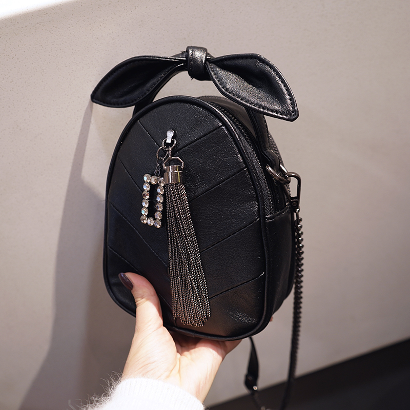 New 2019 Fashion PVC Chain Leather Tassel Casual Handbag Mini Messenger Bag Ladies Messenger Bag Ladies Louis in Crossbody Bags from Luggage Bags