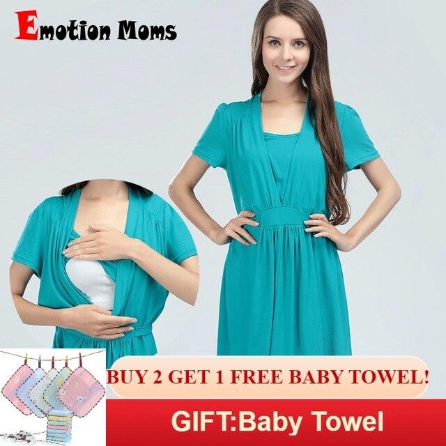 36842edd13a Emotion Moms maternity Clothes Cotton maternity Dress Summer Nursing  Dresses Breastfeeding Dress for Pregnant Women feeding