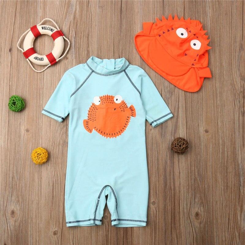 1-6 T Jongens Meisjes Badpak Een Stuk Badpakken Zomer Beachwear Jumpsuit Kids Kinderen Zwemmen Pak