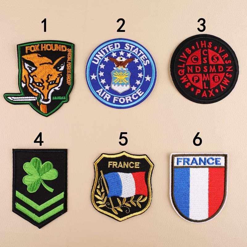 PGY Bandiera Distintivo Lucky clover Ricamato il Ferro Toppe e Stemmi per Abbigliamento FAI DA TE Stripes Vestiti Adesivi Personalizzati di Volpe Distintivi e Simboli Consegna Gratuita