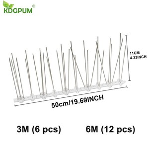 Image 5 - Hot selling 6M Plastic Bird and Pigeon Spikes Anti Bird Anti Pigeon Spike for Get Rid of Pigeons and Scare Birds Pest Control