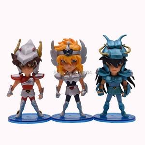Image 4 - 5 pcs/set Anime Saint Seiya Knights of the Zodiac Action Figure PVC Figurine Collectible Model Christmas Gift Toy