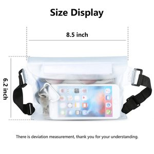 Image 3 - KISSCASE Waterproof Pouch Case For Phone Xiaomi Redmi Note 7 K20 Pro iPhone Underwater Swimming Diving Shoulder Waist Bag Cases