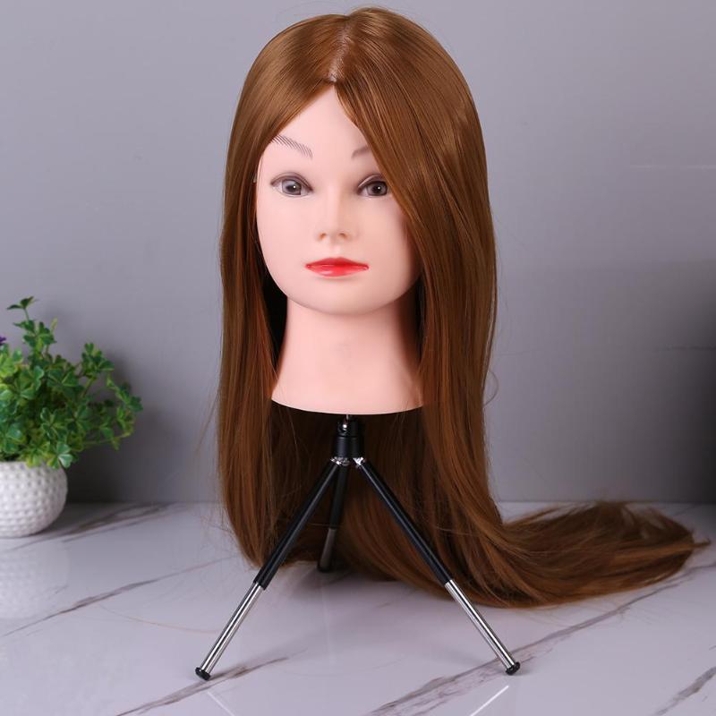 Hairdressing Headform Stent Prosthesis Doll Mannequin Head Hairdress Training Cosmetology Manikin Haircut Hair Style Head Tripod