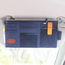 Многофункциональный автомобильный солнцезащитный козырек, сумка для хранения очков, билетов, телефона, органайзер, держатель, карман, авто стиль, подходит для большинства транспортных средств 29,1x4,5 см