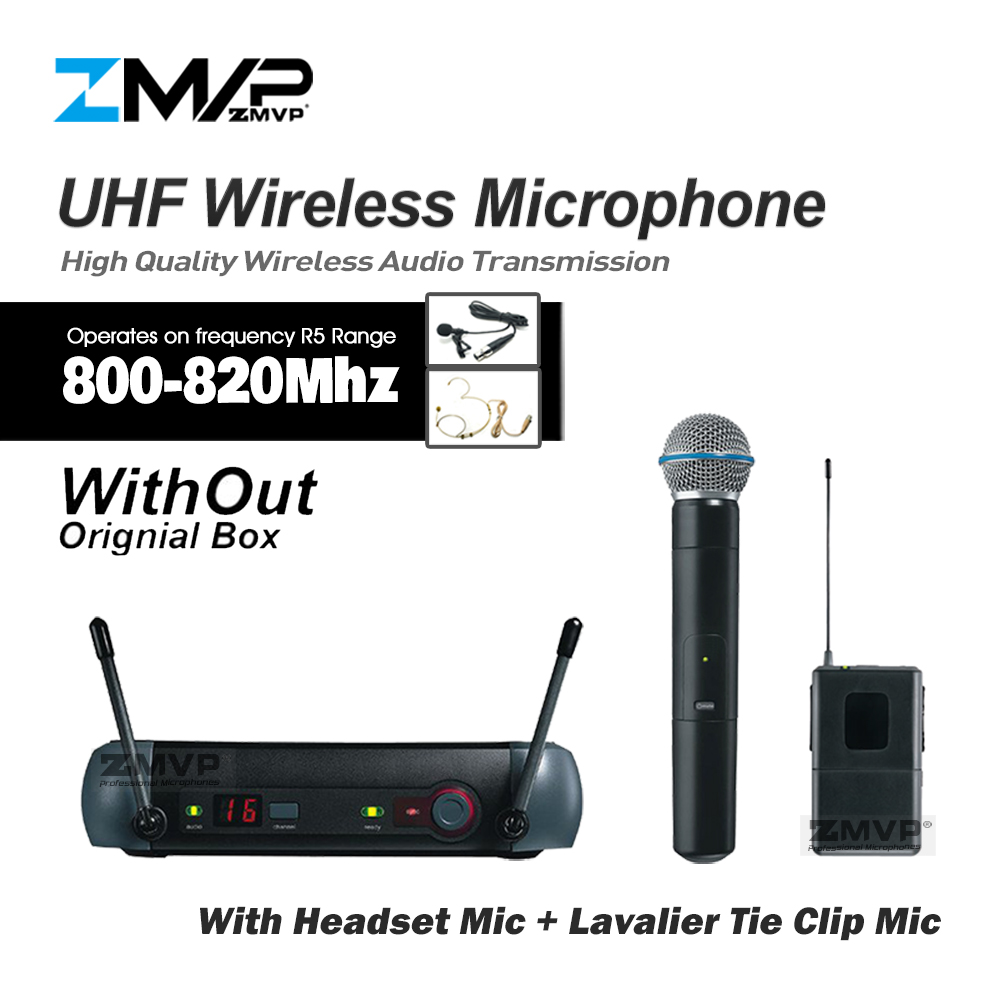ZMVP PGX24 PGX14 UHF Wireless Microphone System With PGX Bodypack Handheld Transmitter Headset Lavalier Mic Without