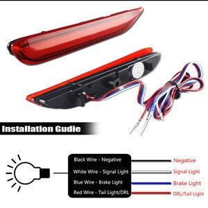 Image 4 - IJDM LED marqueurs de pare chocs, feux pour Infiniti Q50 QX30 QX60 QX56 QX80, Nissan frein à LED feux avec clignotant séquentiel