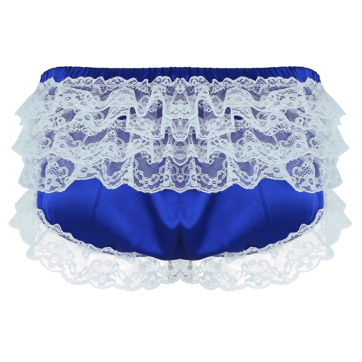 Sissy Gay Soft Ruffled Lace Bowknot Calcinhas Cuecas Homens Biquíni Bottoms Mens Suave Breves Sexy Shorts Cueca Cuecas Cuecas