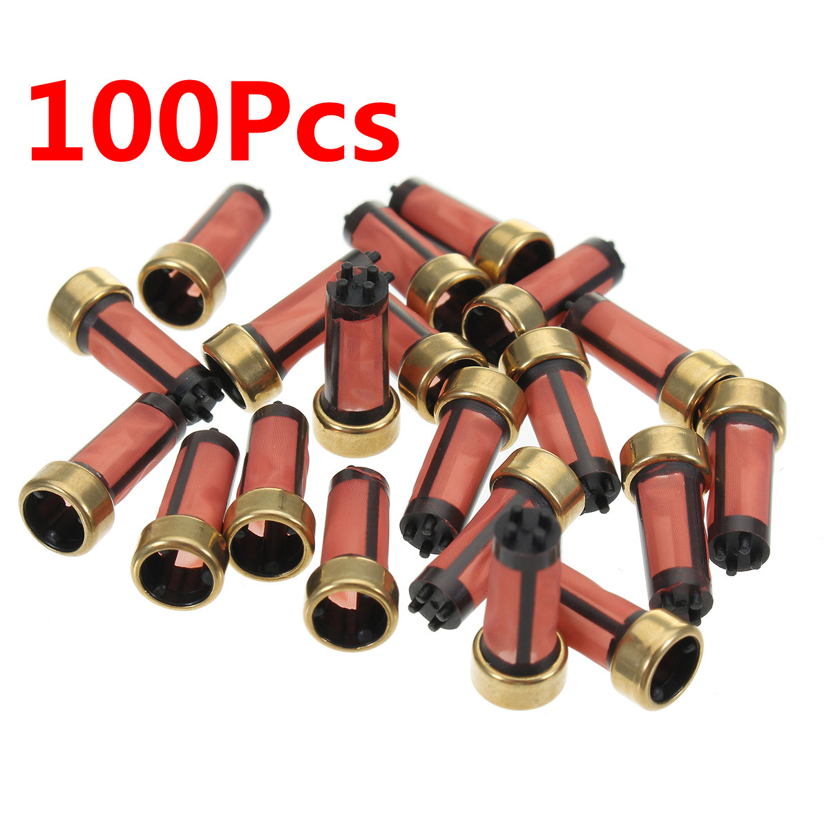 100pcs Fuel Injector Micro Basket Filter Fit for Honda Injector repair kits