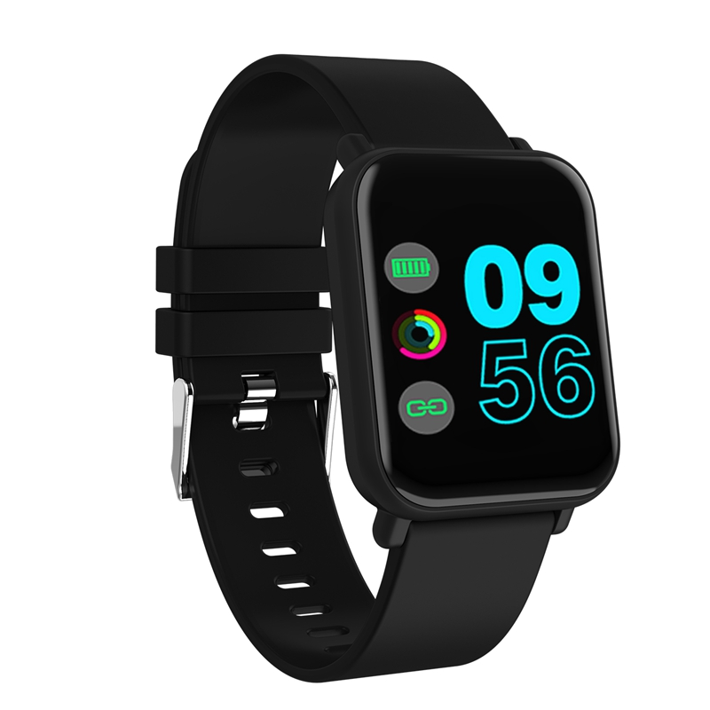 R6 Smart Watch 1.3 inch Full Color Screen 24h HR Blood Pressure Oxygen Monitor Message Call Show IP67 Waterproof Smart Watch