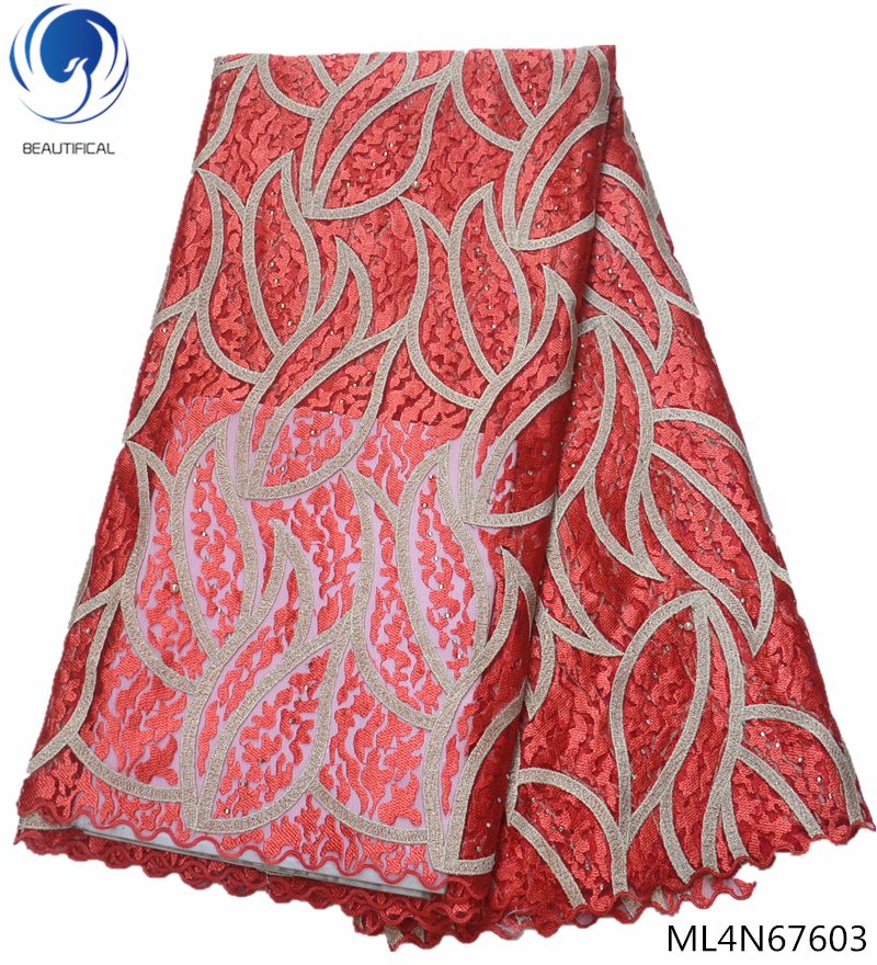 BEAUTIFICAL red lace fabric embroidery net fabric wedding lace fabric for dresses high quality unique styles hot online ML4N676BEAUTIFICAL red lace fabric embroidery net fabric wedding lace fabric for dresses high quality unique styles hot online ML4N676