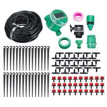 25m Drip Irrigation Kit Water Timer Waterproof Automatic Watering Electronic Garden Sprinkler Plant Agriculture Greenhouse Water