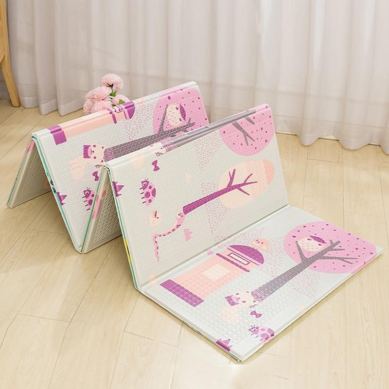 XPE bébé tapis de jeu 200x150x1cm Puzzle tapis pour enfants épais bébé chambre ramper Pad arbre pliant tapis bébé tapis sol doux