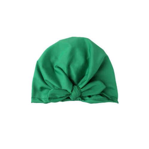2018 Новая Модная хлопковая Шапка-бини для новорожденных мальчиков и девочек на весну и осень, теплая шапка чистого цвета