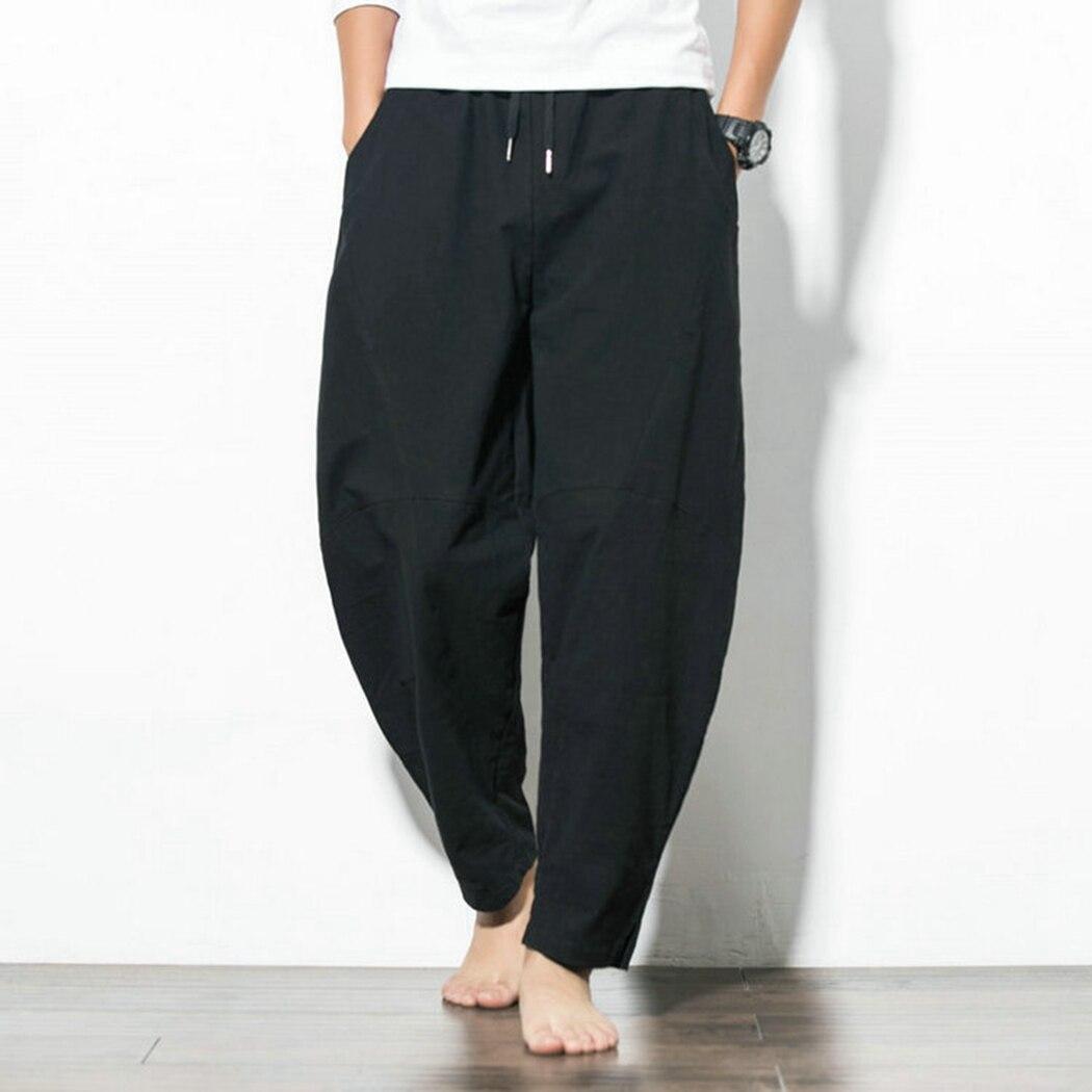 Harem Pants Trouser Loose Punk-Style Plus-Size Crotch Pockets Homme Dancing Men