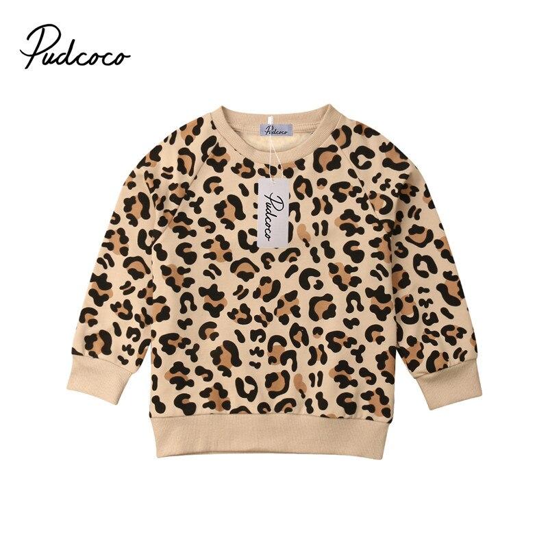 Pudcoco T-Shirt Leopard Bebe Boys Top Toddler Girls Baby-Girl-Boy Fashion Kid Tee Casual