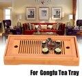 1 шт. Портативный Бамбуковый поднос для чая Китайский Gongfu поднос для чая Настольный дренажный держатель для воды товары для дома 25*14*3 5 см