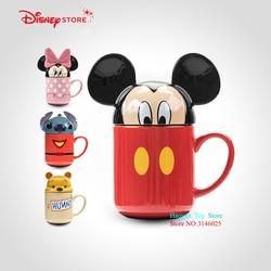 Genuine Disney 3D Stereoscopic Mickey Minnie 330ML Cartoon Men Ceramics Cups Dual-use Office Mugs Women Portable Pupils Cup Home