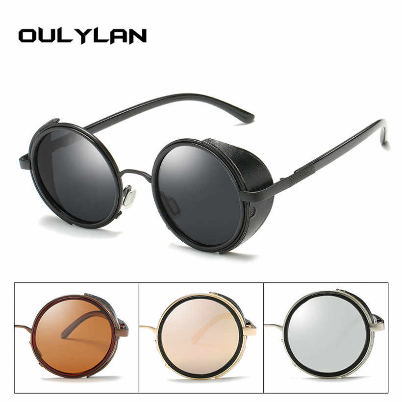 46442ed01b Oulylan Steampunk Sunglasses Women Round Glasses Goggles Men Circle Lens  Unisex Vintage Retro Punk Windproof Sun