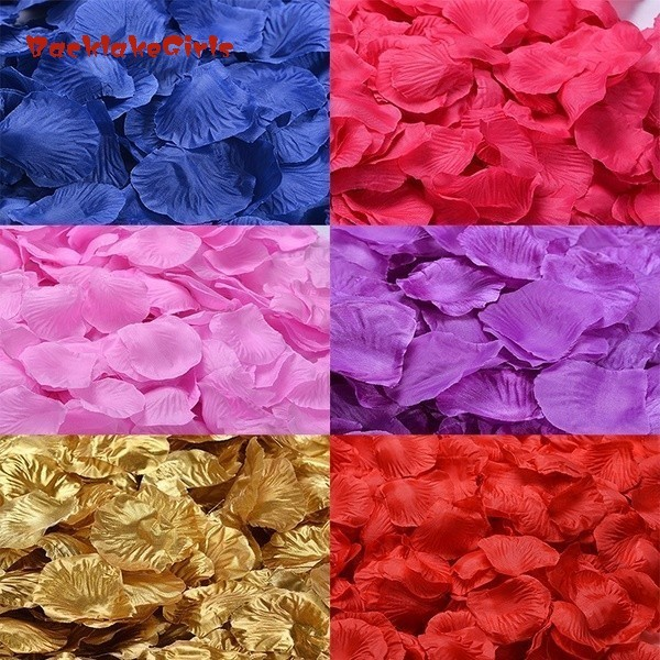 Wholesale 1000pcs Wedding Decorations Fashion Atificial Flowers Polyester Wedding Rose Petals Patal