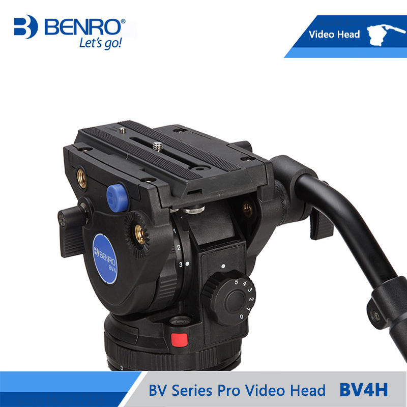 BENRO BV4H Video Head Hydraulic Fluid Video Heads QR13 Quick Release Plate Aluminum Video Head Max