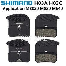 SHIMANO almofadas H01A para freio, almofadas de freio com tecnologia para gelo, montanha e resfriamento DEORE XT SAINT ZEE DEORE H03A H03C D03S D01S M8020 M820 M640