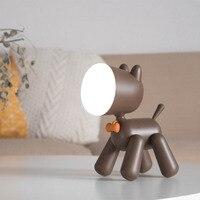 Brown/ white Dog LED PVC Lovely Children Animal Night Lamp Dog Led Night Light Moon Lamp Nursery Lamp Breathing LED Night Light