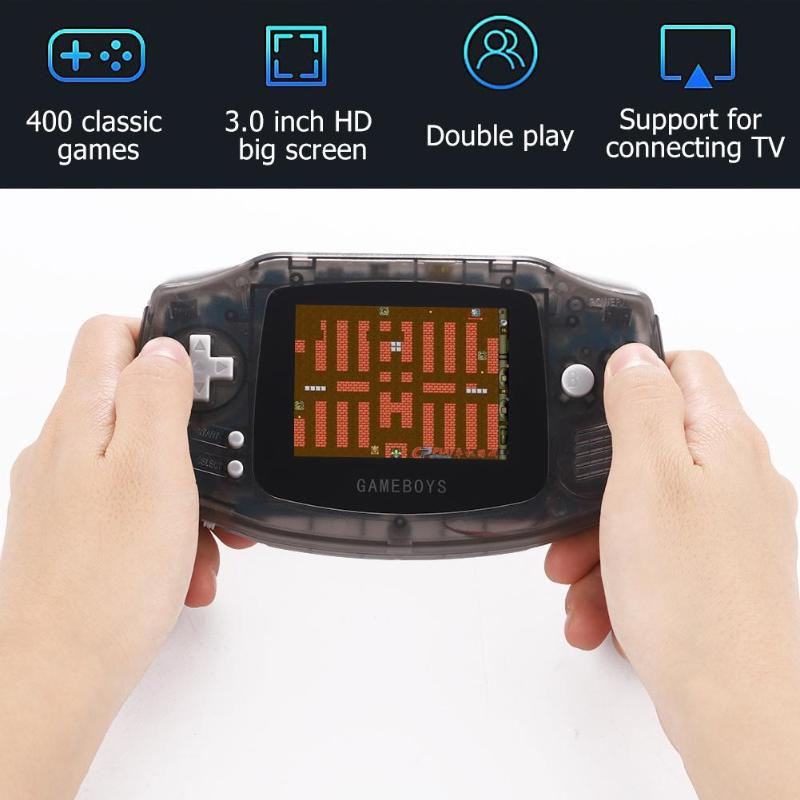 RS-5 3 inch Game Console Video Gaming Player Built-in 400 Classic Games support cyclic charging  connected TV