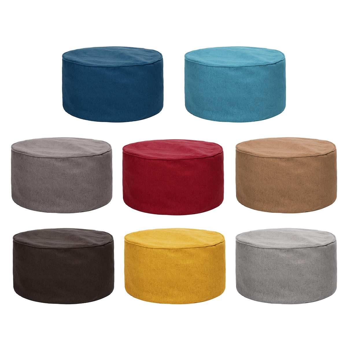 Living Room Table With Stools: Solid Color Living Room Stool Cover Home Fashion Sofa