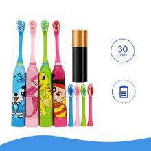 Los niños de cepillo de dientes eléctrico ultrasónica impermeable cepillo  de dientes del temporizador del cepillo c46be72577e1