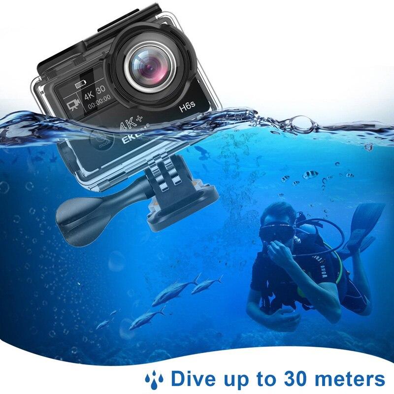 Оригинальная Экшн-камера EKEN H6S Ultra HD с чипом Ambarella A12 4k/30fps 1080p/60fps EIS 30M Водонепроницаемая Спортивная камера