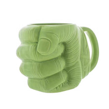Hot Comics Avengers Super Hero Hulk Fist Green Mauley Creative Funny Mug Geek Prank Tea Coffee Beer Cup Gift Box Packing